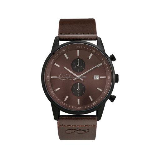 Brown & Black Matte Leather