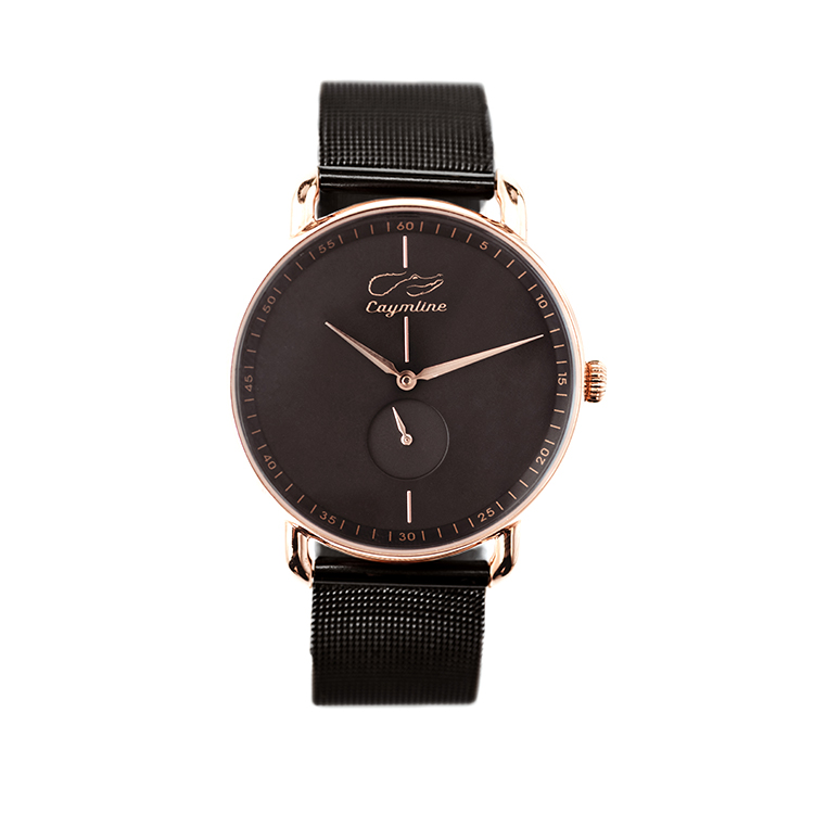 Black Mesh & Rose Gold
