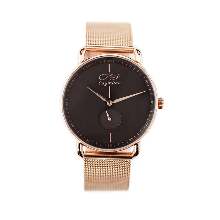 Black & Rose Gold Mesh Bracelet