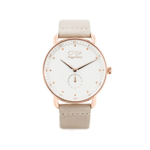 White & Rose Gold Leather