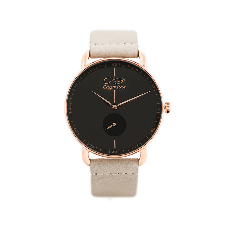 Black & Rose Gold Leather